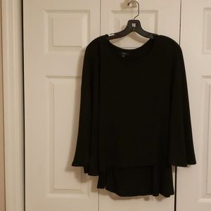 Evening top. Butterfly sleeves with knit shell